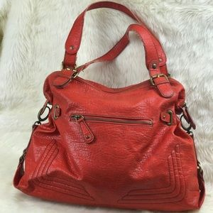 Jessica Simpson Red Leather Shoulder Bag